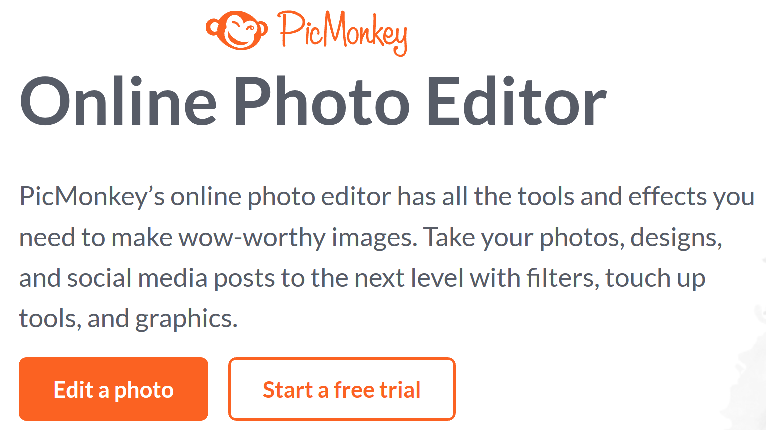 SignUp for PicMonkey